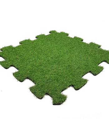 RUBBER MAT WITH ARTIFICIAL GRASS PUZZEL