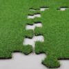 RUBBER MAT WITH ARTIFICIAL GRASS PUZZLE
